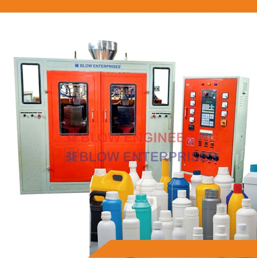 auto deflashing blow moulding machine